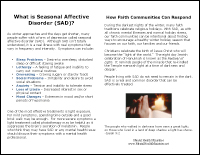 What is Seasonal Affective Disorder Bulletin Insert